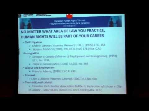 Shirish Chotalia, Chairperson, Canadian Human Rights Tribunal - November 24, 2011