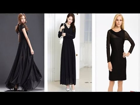 Top 100 Most Beautiful Black Long Sleeve Maxi Dress For Girls Youtube