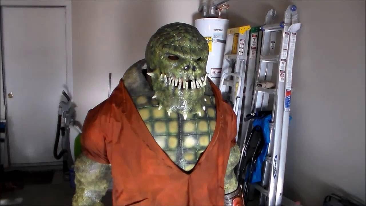 killer croc cosplay batman rogues gallery wip - youtube