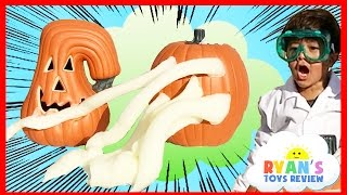 OOZING PUMPKIN Halloween Fun and Easy Science Experiments For Kids to do at Home Elephant Toothpaste