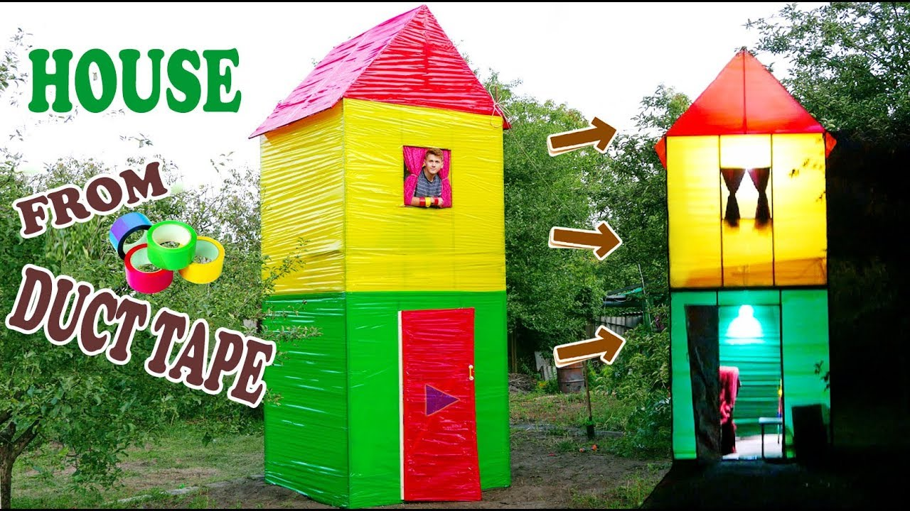 2 STOREY HOUSE FROM DUCT TAPE