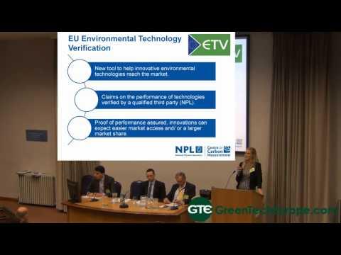 Funding Cleantech Conference - Environmental Technologies Verification Scheme