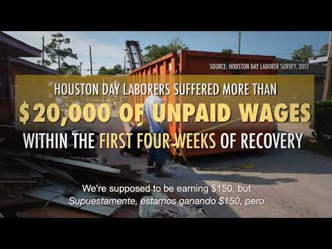 Day Laborers Help Reconstruction Efforts in Houston, TX, after Hurricane Harvey