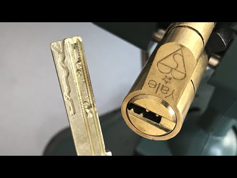 [509] Yale 'Superior' (7 Pins, 4 Sliders) Euro Cylinder Picked and Gutted