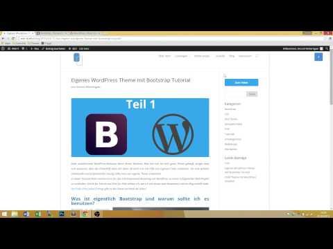 WordPress Theme erstellen mit Bootstrap – Tutorial Teil 1 Deutsch
