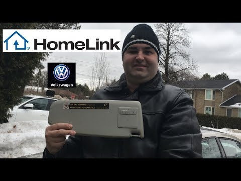 Installing a VW MK5 HomeLink Sun Visor In A 2011-2018 VW MK6 Jetta