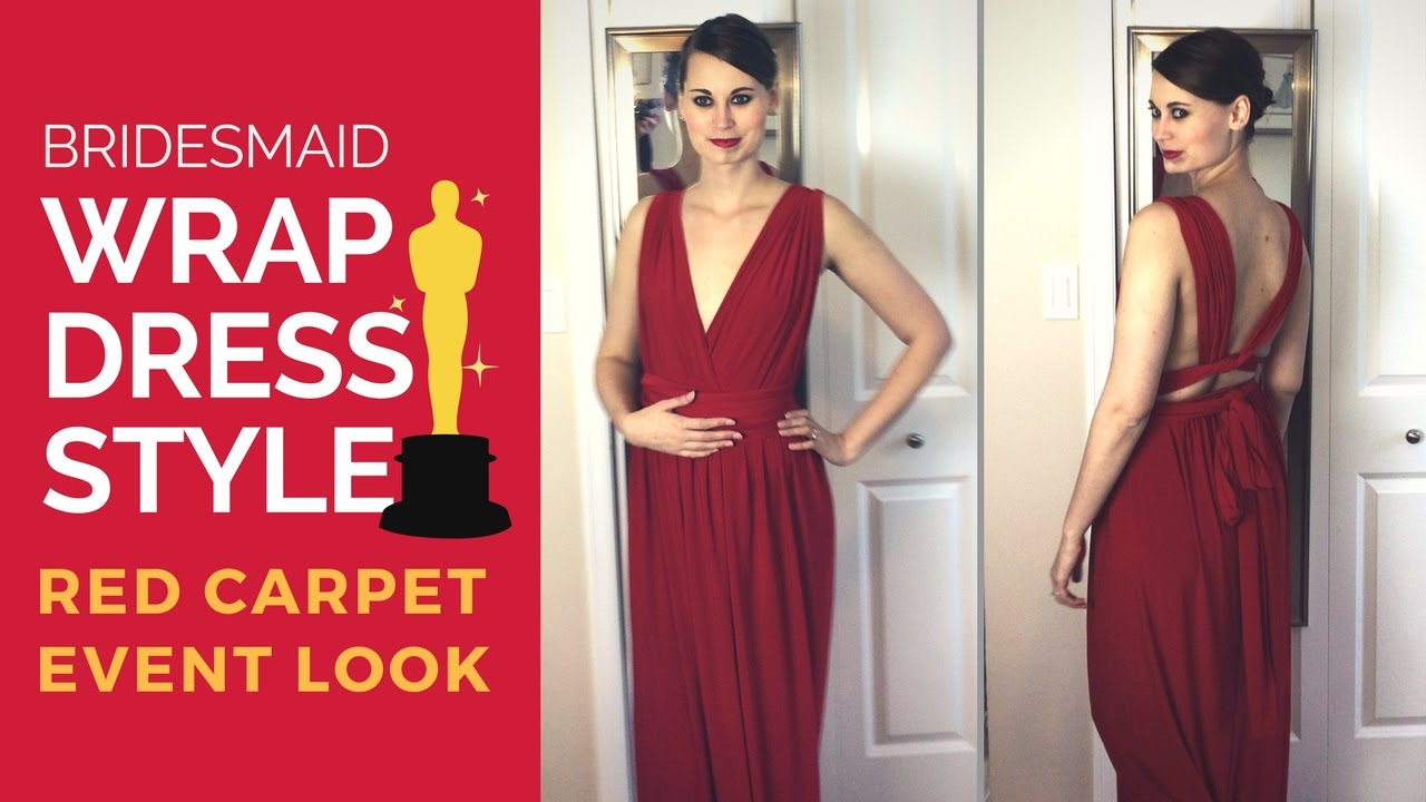 d011c9f6141c Convertible Wrap Dress Style: Oscars Red Carpet Look - YouTube