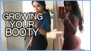 EATING TO GROW MY BOOTY | WHAT I EAT IN  A DAY MACROS