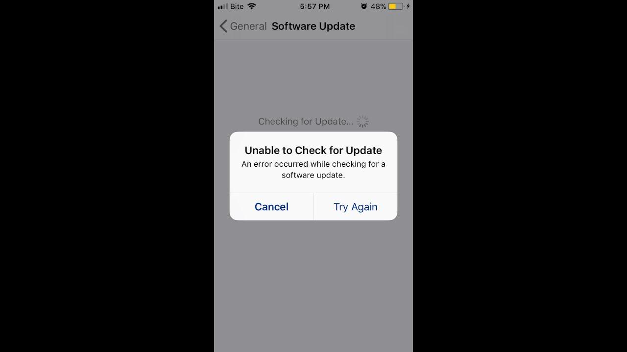 Simple step to fix update error in iOS 11 in iPhones