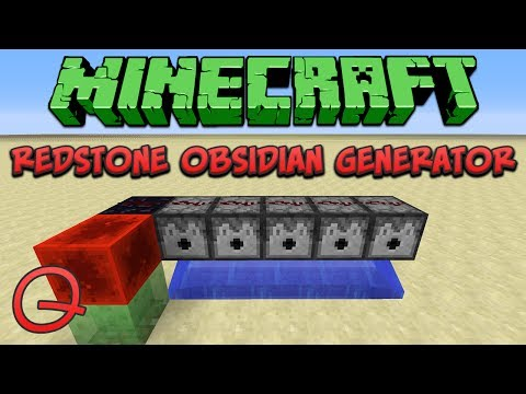 Minecraft 1.8: Compact Redstone Obsidian Generator (Quick) Tutorial