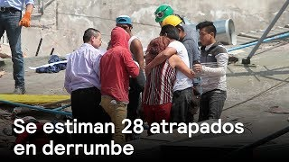 Derrumbe en CDMX tiene, supuestamente, a 28 personas atrapadas - Sismo - En Punto con Denise Maerker