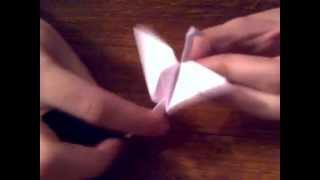 Как сделать Журавля из бумаги   How to make a Paper Crane