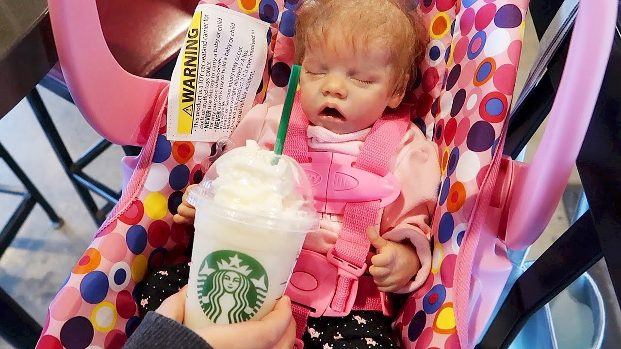 Reborn Baby Goes To Starbucks And Reborns Night Time
