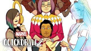 Artist Kris Anka Draws The Runaways -- Marvel Quickdraw