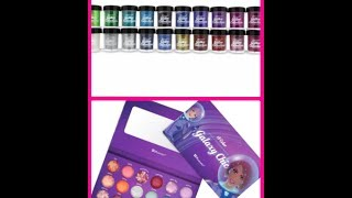 unboxing bh cosetics glitters galaxy chic palette