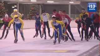 Chileense schaatsers imponeren in hun eerste officiële schaatsmarathon op Tilburgs ijs.
