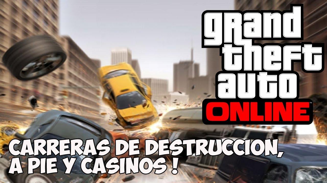 GTA V ONLINE - Carreras Corriendo y Casinos - Informacion GTA V