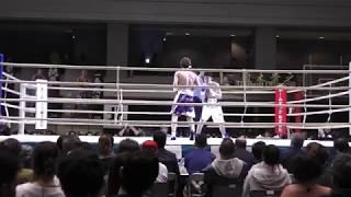 下町俊貴(赤)vs遠藤清平(青)2018.4.1