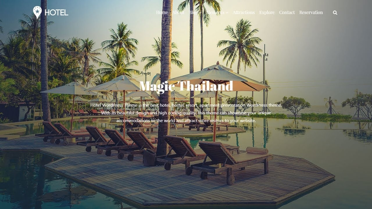 Hotel WordPress Theme Background Video & Reservation ...