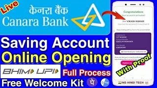 Canara Bank Saving Account Online Opening Full Process || Bank Account Opening Without Pan Card 🔥🔥