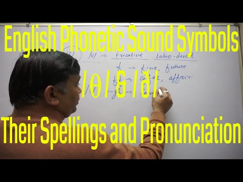 English Phonetic Sound Symbols /ϴ/ & /ð/ and Their Spellings and Pronunciation