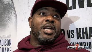 "COACH BOMAC ""VIRGIL HUNTER DONT EVEN THINK AMIR KHAN CAN WIN! TERENCE IS THE GUY AT 147!"""