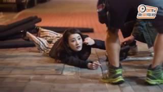 Phim TVB- Hậu trường cảnh quay đụng xe nguy hiểm trong Nghịch chiến