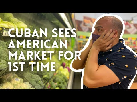 Cuban Goes to American Supermarket for the 1st time- Communism to Capitalism