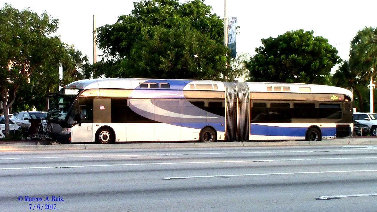 BROWARD COUNTY TRANSIT BUS ACTION AROUND THE CITY 2017