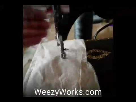 Singer 24-80 chain stitcher in action!