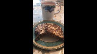 Greek Coffee and Homemade Toblerone Chocolate Cake ☀️☀️ #perfect 👌
