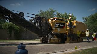 Video still for Customer Testimonial: Cat® PM620 Cold Planer (Dallas County, Texas, USA)