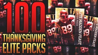 BEST PULL 20+ TIMES! OPENING 100 ELITE THANKSGIVING PLAYER PACKS! Madden Mobile Pack Opening