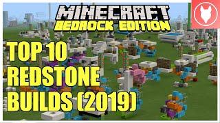 Minecraft Bedrock - Your Top 10 Redstone Builds of 2019!