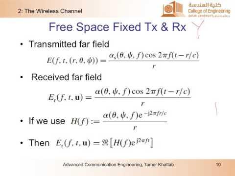 ELEC556-L2: Wireless Channel - I