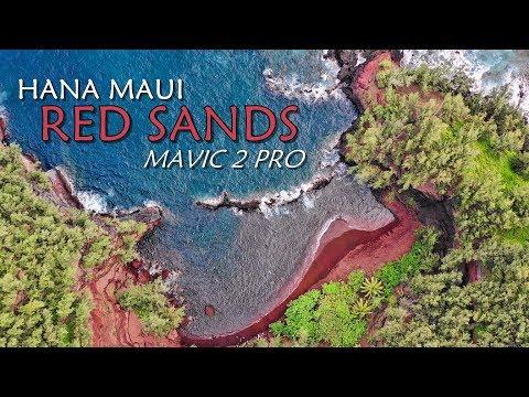 Mavic 2 Pro - Secret Red Sands Beach in 4K Hana Maui Hawaii (Auto Camera Settings)