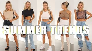 2020 SUMMER FASHION TRENDS AND HOW TO STYLE | HALTER TOPS, HAIR SCARVES, DENIM SHORTS, MUSCLE TEES