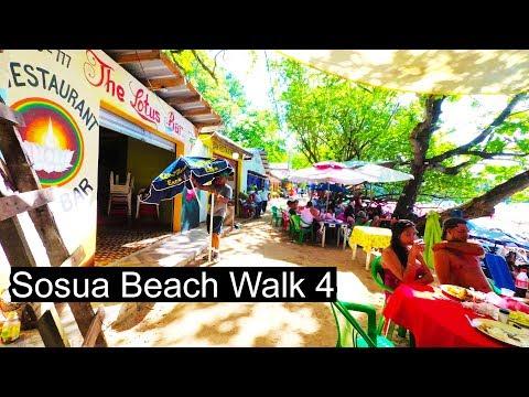 Sosua Beach Walk 4 (bars and restaurants) - Dominican Republic 2017 4K