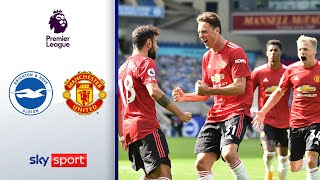VAR, Drama, 90.+10! | Brighton & Hove Albion - Manchester United 2:3 | Highlights - Premier League