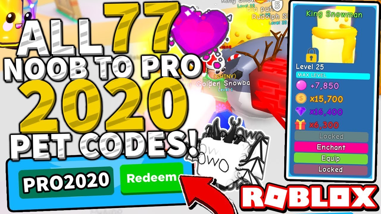 All 77 Noob To Pro 2020 Pet Codes In Bubble Gum Simulator Super Broken Roblox Youtube
