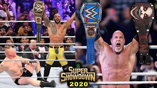 10 Last Second WWE Super ShowDown 2020 Rumors & Spoilers - Goldberg Wins Universal Title