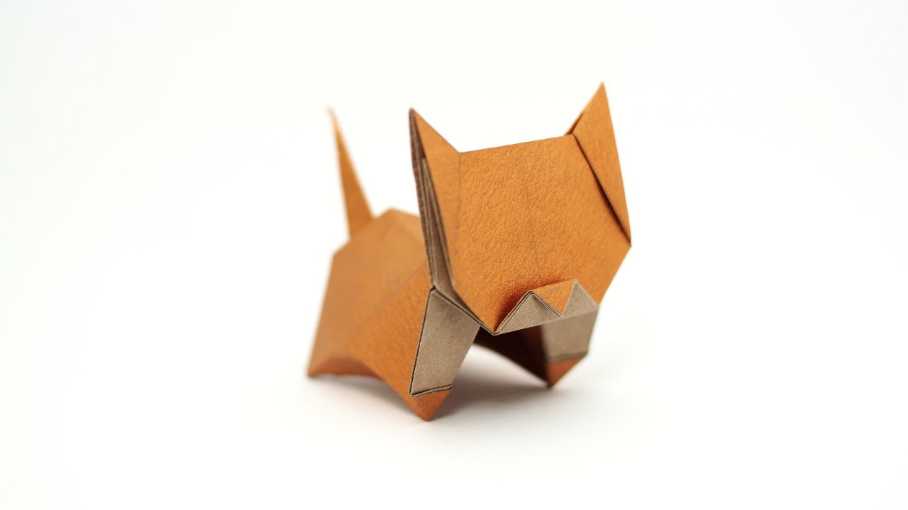 Origami Neko (cat) (Jo Nakashima) - remake - YouTube - photo#24