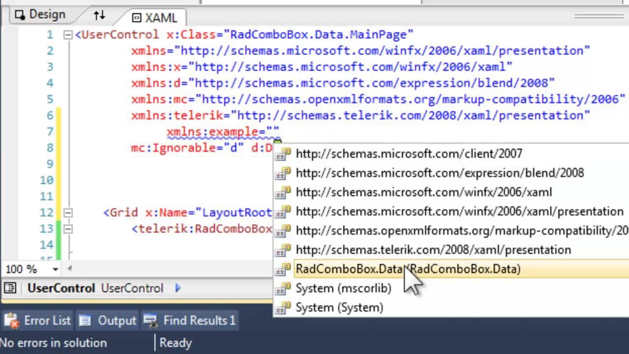 Data binding with ComboBox for XAML