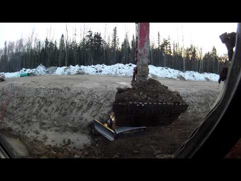 excavator work in fort mcmurray