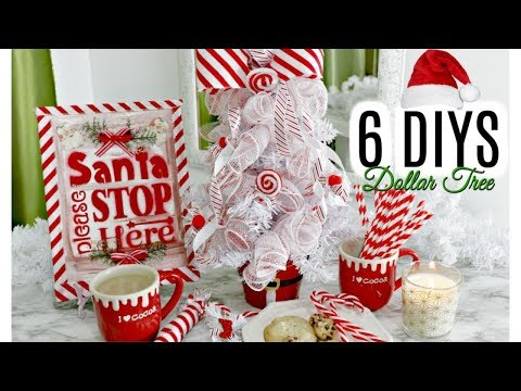 "🎄6 DIY DOLLAR TREE CHRISTMAS DECOR CRAFTS 2019🎄""I Love Christmas"" ep 6 Olivia's Romantic Home DIY"