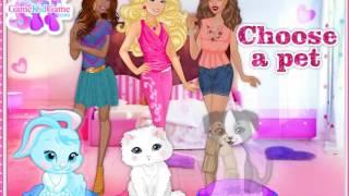 Барби и подружки одевают животных для выставки! ОНЛАЙН-Игра ДЛЯ ДЕВОЧЕК