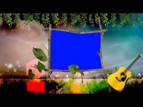 Wedding Frame Blue Background Video Effects HD thumbnail