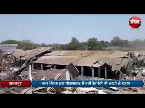 Exclusive news of Encroachment   Encroachment at Gorabazar Dairies in Jabalpur