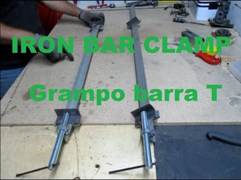 Homemade long Bar clamps   How to build a steel bar clamp