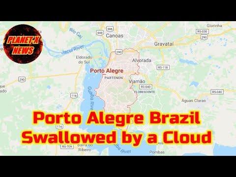 Porto Alegre Brazil Swallowed by a Massive Cloud